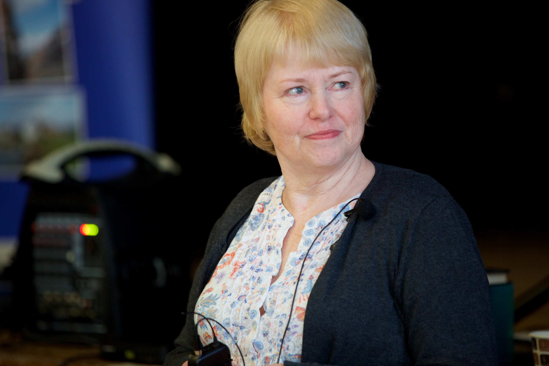 Sue Benwell, speaker. Taken at the monthly meeting in December 2016.