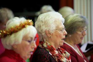 Singing for Pleasure Interest Group singing at the December 2016 monthly meeting.