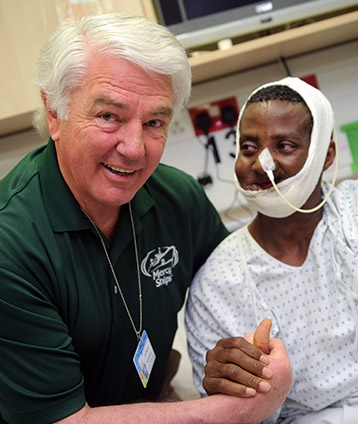 Mercy-Ships-founder-Don-Stephens-patient