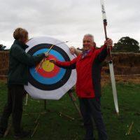 Mike scores a bullseye
