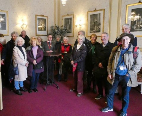 One of our groups in the Queen's Reception Lounge