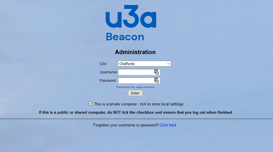 Beacon Website Home Page
