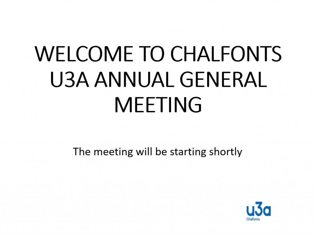 Chalfonts u3a AGM 2021